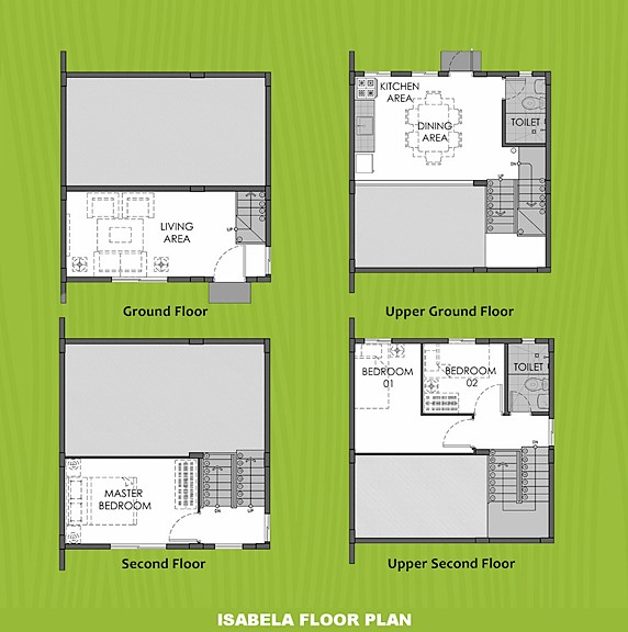 Isabela Floor Plan House and Lot in Los Banos