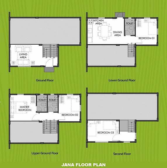 Janna Floor Plan House and Lot in Los Banos
